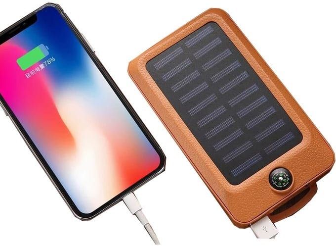 Power bank with solar charging