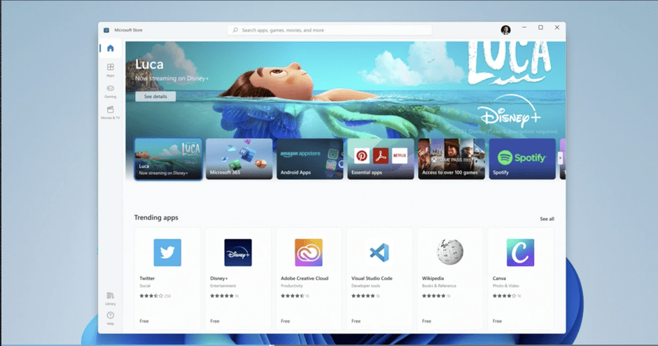 windows 11 will run android apps
